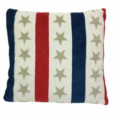 Stars And Stripes Red White Blue 40x40cm Fleece Cushion Matching Items Available