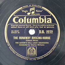 78rpm CHARLES WILLIAMS the runaway rocking horse / the night has eyes