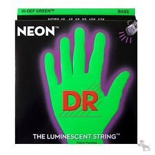 DR NGB-45 HiDef Neon Green Coated Medium Bass Strings on Round Core (45-105)