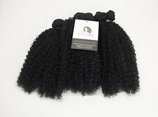 "14"" - 16"" PACK Kinky Curly Weave Human Hair Blend Synthetic with Free Closure"