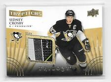 #1/150 SIDNEY CROSBY 2014-2015 TRILOGY TRYPTICHS GAME USED STICK LOGO SP #1=1/1