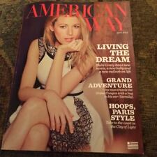AMERICAN AIRLINES AMERICAN WAY MAGAZINE - BLAKE LIVELY