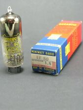 1 tube electronique MINIWATT DARIO EF80 1.8/vintage valve tube amplifier/NOS