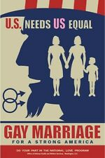 Frank Kozik Gay Marriage Poster U.S. Needs Us Equal Propaganda Print