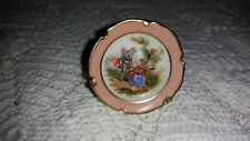 "Limoges: Miniature, Handpainted 2"" DIAMETER PLATE WITH STAND 150801011"