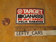 TARGET CHIP GANASSI RACING FELIX SABATES EMBROIDERED RUBBER PATCH - SEW ON TYPE