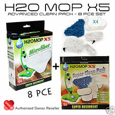 Danoz Direct H20 X5 Microfiber Advanced Clean Pack [ 8 PIECE SET ] + FAST POST