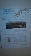 Kenwood ka-894 994 v3700 service manual original book stereo av amp amplifier