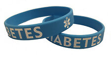 Adult Blue Diabetes Silicone Bracelet