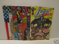 Lot of 7  LOBO  (1992 Series) & 2 first issues all  Near Mint  Infanticide