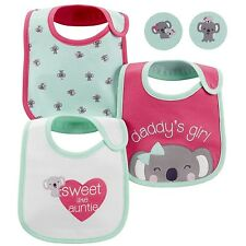 Carter's Just One You New Born Baby Girl Cute Koala teething Bibs 3pc set