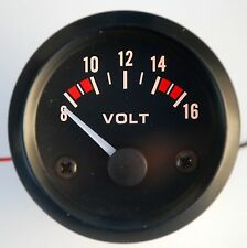 "New Voltmeter 12 Volt (8-16 volts) 2"" car boat truck atv"