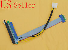 PCI-Express PCI-E x1 to x16 8 Inch Molex Powered Riser Extension Cable