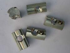 Nutensteine 10x13mm M8 L=22  100 Stück ALU mit Edelstahlkugel