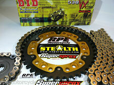 HONDA CBR1000rr  '04-07 SUPERSPROX STEALTH GOLD DID 530 CHAIN AND SPROCKETS KIT