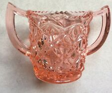 Vintage Heavy Diamond Pink Depression Sugar Bowl