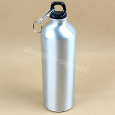 Outdoor Sports Cycling Camping Bicycle Aluminum Alloy Water Bottle 750ml Silver