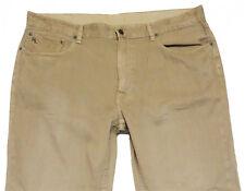 POLO RALPH LAUREN Khaki Beige 650 STRAIGHT LEG JEANS Linen Cotton EUC Mens 40x29