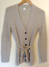 J. Crew Gray Cashmere Button Front Belted Cardigan Size Medium