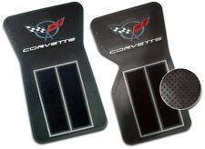 68-82 Corvette Mats NEW Black Carpet & Corvette With Flags 4875