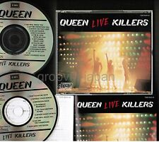 QUEEN Live Killers JAPAN 2CD 1987 issue w/PS+INSERT in Fat Jewel TOCP-8033~4