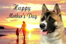 Japanese Akita Dog C5 Ultra High Gloss Mothers Day Card MAKITA-1 paws2print