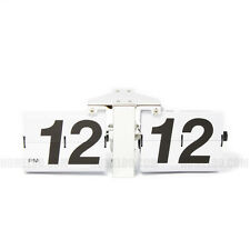 Retro Modern GIANT Big Number Auto Flip Wall Clock White