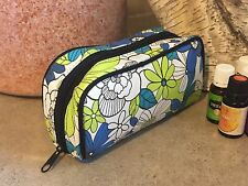 CLASSY--ESSENTIAL OILS CASE.can Hold 10 Young living Oils Bottles-LIME n TEAL