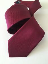 "Yves Saint Laurent YSL Red Horizontal Striped Silk Tie 3.25"" MF10846 Italy Made"