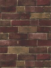 Multiple Shades of Red and Brown Extremely Detailed Brick Wallpaper BG21586