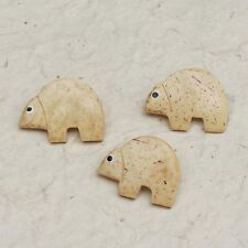 Cute Critter coconut shell buttons with back shank, pack of 3
