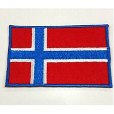 Norway Norwegian Nation Country Flag Embroidered Sew/Iron On Patch Patches