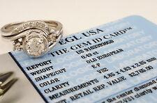 0.50ct Vintage 14k Old European Cut Diamond Engagement Wedding Ring Set EGL-USA