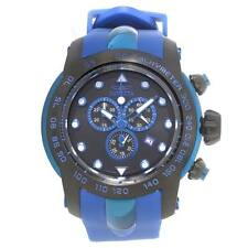 Invicta 17810 Men's Pro Diver Black Dial Blue Strap Chrono Watch