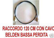 H-155 BELDEN CAVO DI RACCORDO 120 CM DOPPIA MAGLIA BASSA PERDITA