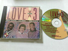 Chuck Jackson O.C. Smith & Cuba Gooding ‎1993 Love X 3 CD + FRONT INLAY ONLY RAR