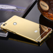 Gold Metal Frame + Mirror Back Case Cover For Xiaomi Mi2 /2s/2 Prime