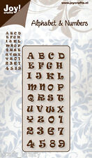 JOY CRAFTS CUTTING & EMBOSSING DIE STENCIL ALPHABET & NUMBERS 2 6002/0141