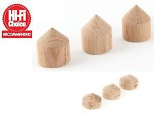MCRU OAK CONE FEET | HI-FI CHOICE 5 STAR REVIEWED | SET OF 3 CONES