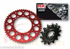 520x120 Chain, 13T Front Sprocket, 49T Red Rear Sprocket Kit Honda CR250/R