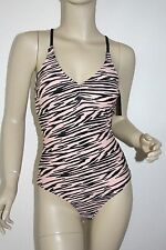 Ninety Nine Degrees *NWT* Junior Print Cut out One Piece Swimsuit ~ Small