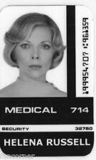 COSMOS 1999 Carte identification H. Russell Space 1999 Russell id card
