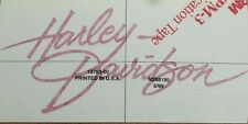 2 OEM RED Harley Gas Tank Decals Part 13763-00 2000 LowRider FXDS FXDL