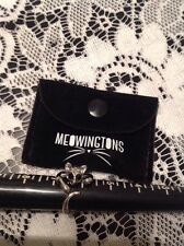 Ladies Meowingtons Silver Tone Cat Ring With Black Eyes Sz 6.5