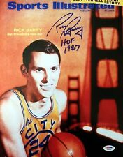 RICK BARRY SIGNED AUTOGRAPHED 11x14 SPORTS ILLUSTRATED COVER PHOTO PSA/DNA