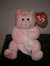 Ty Beanie Baby ~ BABY GIRL the Bear w/ Blanket ~ MINT with MINT TAGS ~ RETIRED