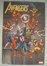 "AVENGERS Promo poster, THOR, HULK, 24""x36"" , 2005, Unused, more in our"