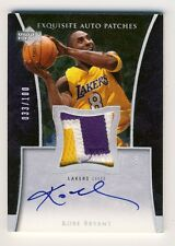 Kobe Bryant 2004-05 Upper Deck Exquisite Autograph Auto Patch Card 033/100