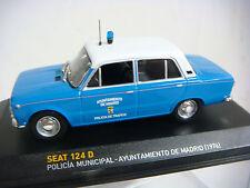 COCHE SEAT 124-D POLICIA MUNICIPAL MADRID  ESCALA 1/43