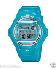 BG-169R-2B Blue Digital Casio Baby-G Watches Lady Resin Band Full Packy Box